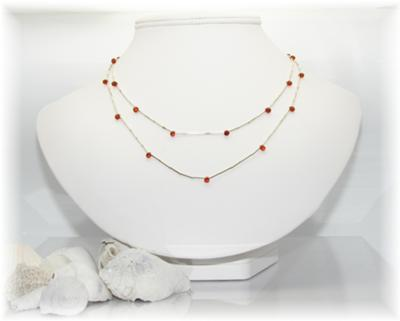 Liquid Silver and Amber Necklace