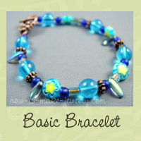 beginner easy beaded bracelet image